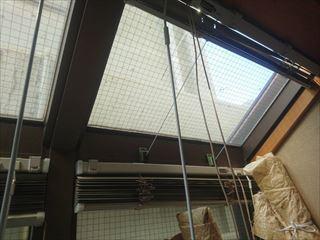 高崎市大橋町で割れた防火窓ガラスを交換して水の侵入を防ぎます