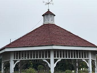 東屋屋根補修