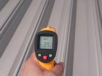 屋根の温度計測