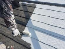 藤岡市 屋根外壁塗装 屋根下塗り