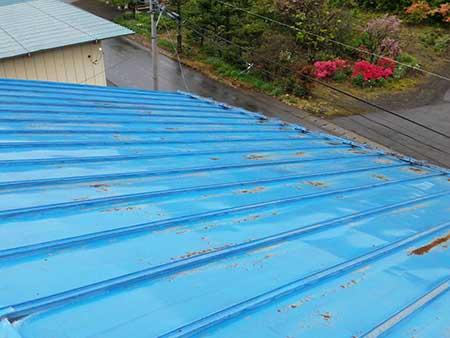 高崎市上里見町トタン屋根塗装前