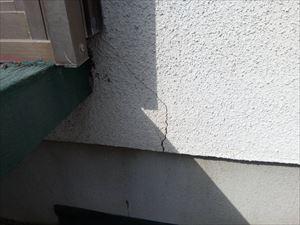 高崎市南陽台破風外壁ひび割れ