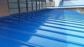 前橋市上泉町トタン屋根塗装完成