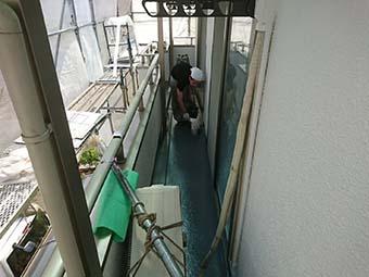 藤岡市 ベランダトップコート塗り替え