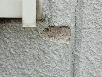 群馬 外壁屋根塗装 現場確認 外壁はがれ