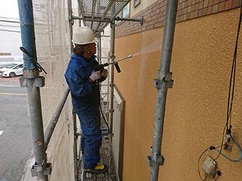 藤岡市 外壁高圧洗浄