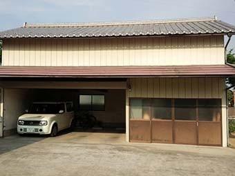 前橋市大胡町駐車場兼物置