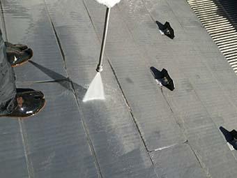 吉岡町 屋根、外壁塗装工事 屋根洗浄