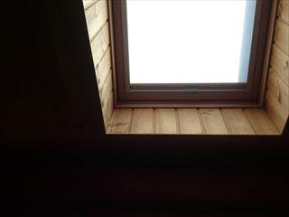 前橋市大胡町室内から見た天窓