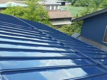 高崎市上里見町 トタン屋根塗装完成