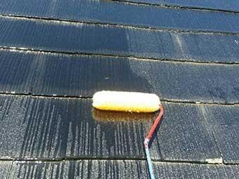 吉岡町 スレート屋根塗装 屋根シーラ-2回目