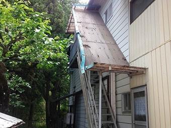 工場 外階段テラス修理見積り
