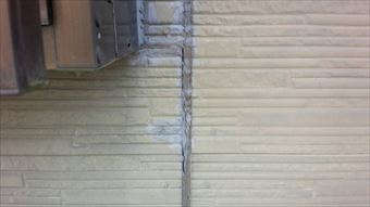 前橋市富士見町外壁コーキング補修跡