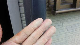 前橋市富士見町外壁チョーキング現象