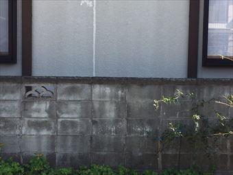 藤岡市西平井町Y様ブロック塀の汚れ