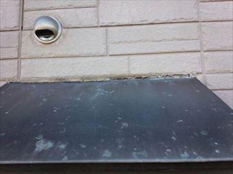 高崎市箕郷町外壁サイディングと窓庇つなぎ目