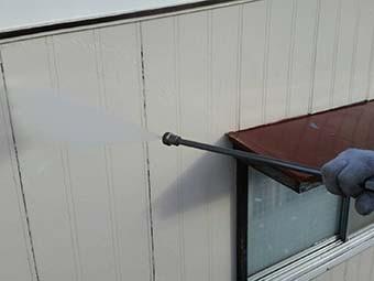 吉岡町 屋根、外壁塗装工事 外壁洗浄