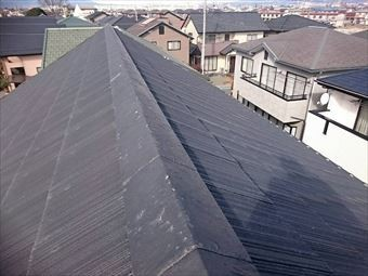伊勢崎市新栄町屋根棟板金写真