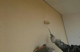 前橋市富士見町A様邸外壁上塗り