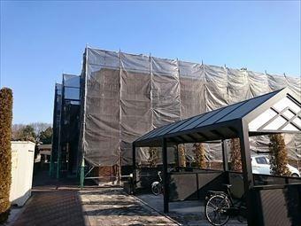 太田市古氷町t様邸足場設置完了