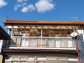 高崎市 雨樋とテラス交換
