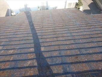 駒形町棟板金工事、屋根塗装前