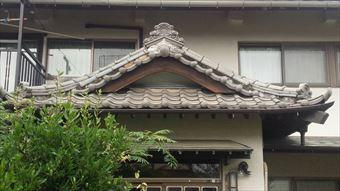 前橋市富士見町U様邸玄関屋根瓦