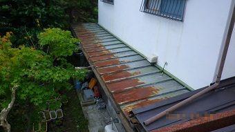 渋川市赤城町サンブキトタン屋根のサビ1