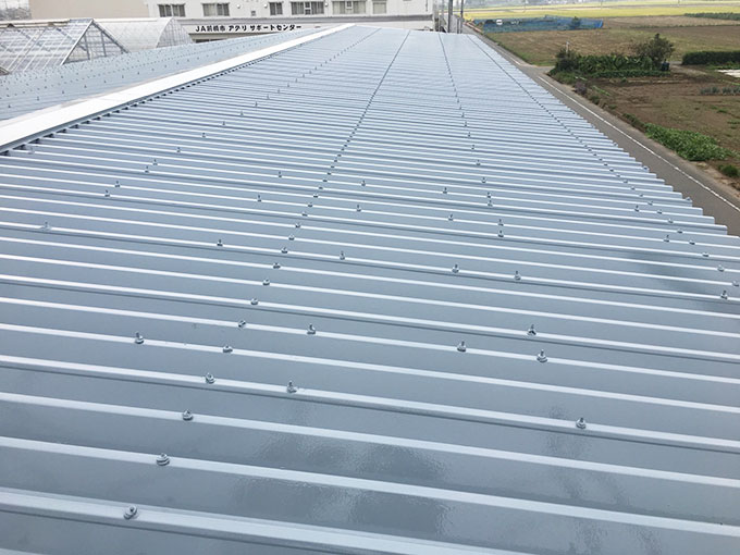 工場 折半屋根塗装完工