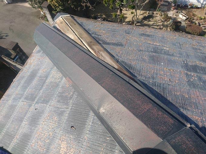 前橋市駒形町 強風で外れた棟板金を即日応急修理しました