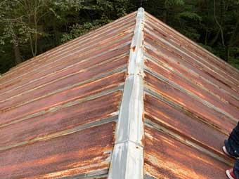嬬恋村 屋根塗装工事前
