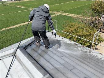 玉村町屋根塗装 洗浄