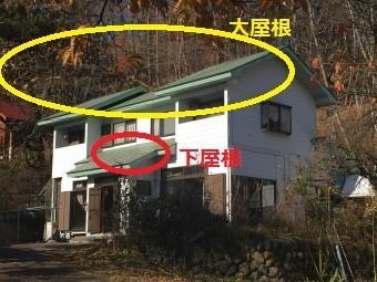 片品村平葺きトタン屋根(大屋根・下屋根)