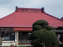 前橋市富士見町お寺屋根塗装前
