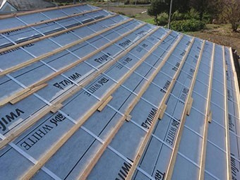 前橋市富士見町 屋根瓦葺き替え工事 瓦桟木