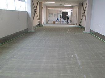 太田市工場床下塗り作業完了
