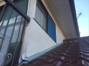 前橋市荒牧町T様外壁と瓦屋根のつなぎ目