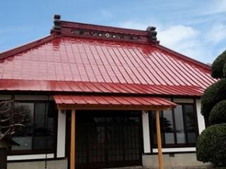 前橋市富士見町お寺屋根塗装完成