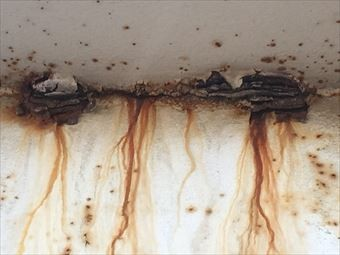 前橋市三河町マンション階段塗装工事階段裏