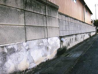 群馬県伊勢崎市O様 外塀塗装前(お客様の声)