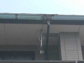 アパート雨樋傷み