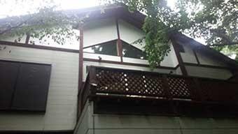 別荘 塗装現地調査