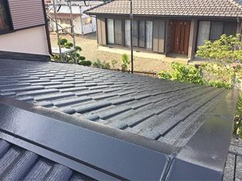 藤岡市 下屋根塗装完工