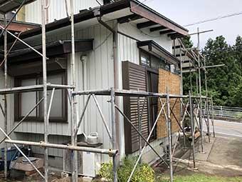 安中市松井田町 桟葺き屋根塗装