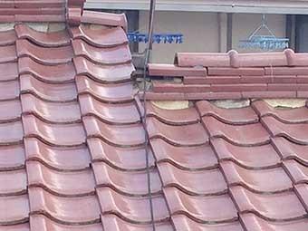 前橋市六供町S様邸棟瓦横から見た屋根