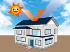 屋根色と遮熱性についてのイラスト