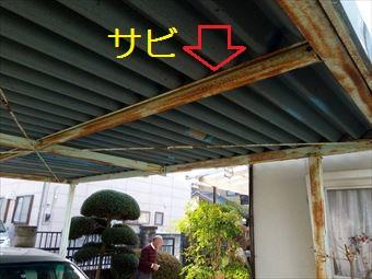 前橋市カーポート塗装