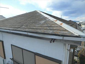 前橋市東大室町 化粧スレート屋根調査