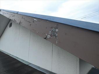 前橋市高花台破風板塗料の剥がれ