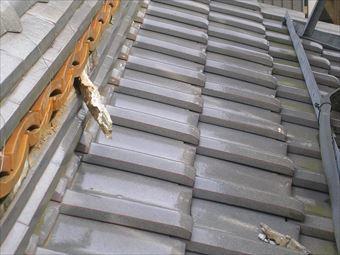 吾妻郡中之条町A様屋根瓦漆喰のはがれ